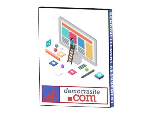Democrasite Pack Renouvellement